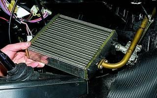 Как разобрать радиатор печки